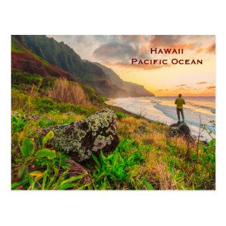 Postal El viaje del turismo del vintage de Hawaii añade
