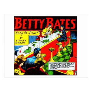 Postal El vintage Betty cómica del kitsch rebaja a la