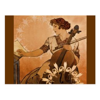 Postal El violoncelista