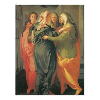 Postal El Visitation - Jacopo DA Pontormo