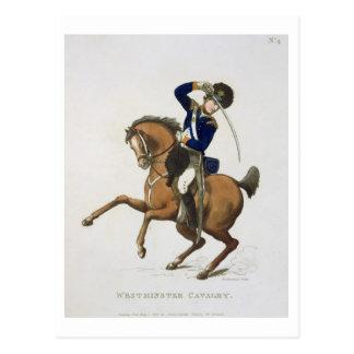 Postal El voluntario de la caballería de Westminster,