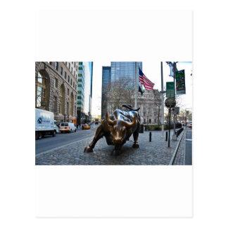 Postal El Wall Street Bull
