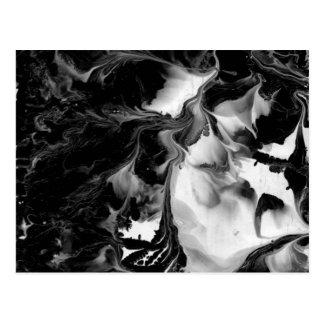 Postal EL YIN y YANG (arte abstracto negro y blanco) ~.