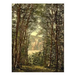Postal El Zauberhole (gruta encantada) y Rheinstein,