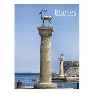 Postal Elafos y Elafina, entrada a Rodas, Grecia