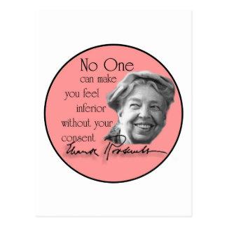 Postal Eleanor Roosevelt - primera señora del mundo