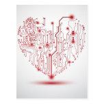 Postal eléctrica del corazón