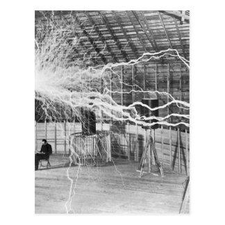 Postal Electricidad de Nikola Tesla