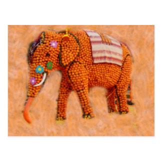 Postal Elefante anaranjado