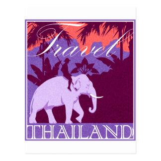 Postal Elefante blanco de Tailandia del viaje
