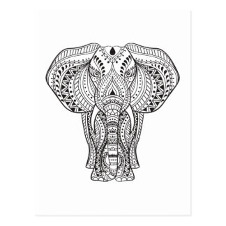 Postal Elefante indio étnico