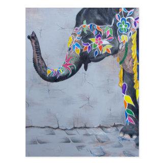 Postal Elefante pintado