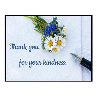 Postal elegante de la amabilidad