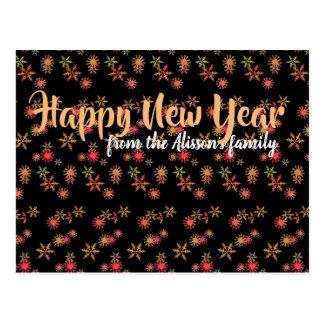 Postal elegante personalizada del Año Nuevo