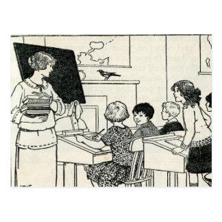 Postal elemental del profesor de escuela primaria