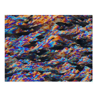 Postal Elementos/aluminio debajo del microscopio