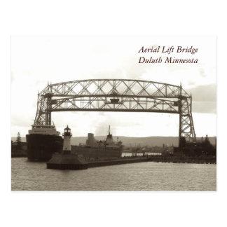 Postal Elevación aérea BridgeDuluth Minnesota