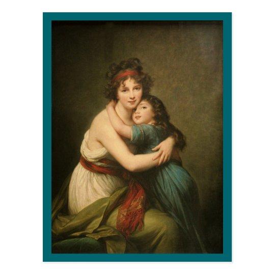 Postal Elisabeth y su hija