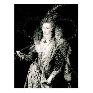 Postal Elizabeth I exhausto por W.Derby y grabado cerca