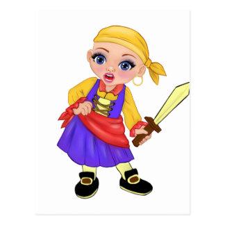 Postal ¿Ella la princesa encantada Who Are You? Pirata