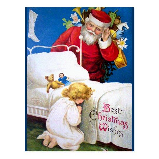 Postal Ellen H. Clapsaddle: Santa que escucha