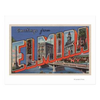 Postal Elmira, Nueva York - escenas grandes de la letra