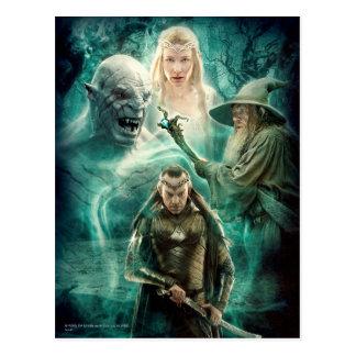 Postal ELROND™, Azog, Galadriel, y gráfico de Gandalf