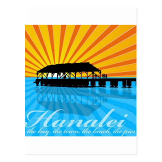 Postal Embarcadero de Hanalei
