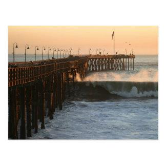 Postal Embarcadero de la tormenta de Ventura