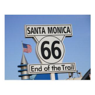 Postal Embarcadero de Santa Mónica - extremo del rastro
