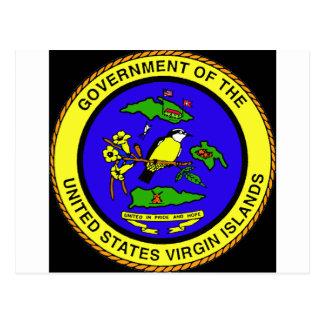 Postal Emblema de las Islas Vírgenes de los E.E.U.U.