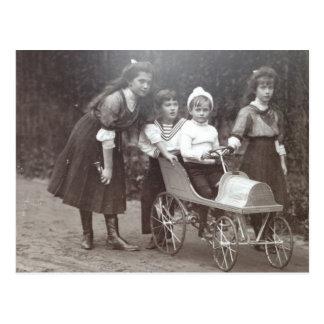 Postal Embroma al tsar - MARIE, ANASTASIA, ALEXIS Rusia