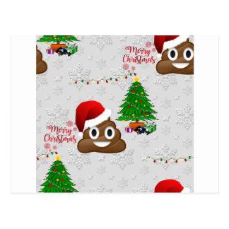 Postal emoji del poo de las Felices Navidad