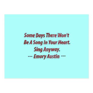 Postal Emory Austin inspirado, cita de motivación