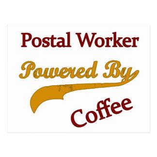 Postal Empleado de correos accionado por el café