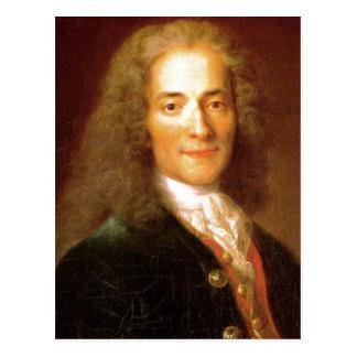 Postal En 1718 de Voltaire de la descripción. Retrato de