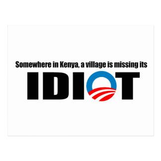 Postal En alguna parte en Kenia un pueblo está faltando a