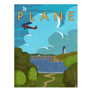 Postal En avión