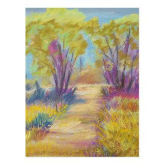 Postal en colores pastel del paisaje