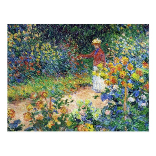 Postal En el jardín de Claude Monet
