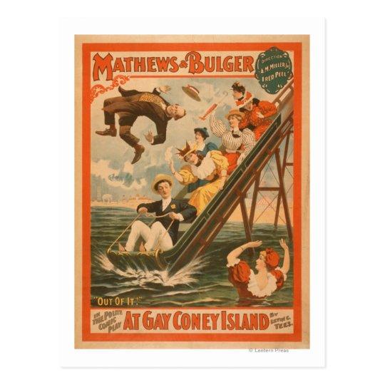 """Postal """"En el poster #2 de la comedia musical de Coney"""