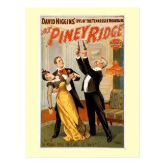 Postal En el poster penoso del teatro del vintage de