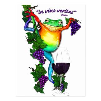 Postal En el vino Veritas