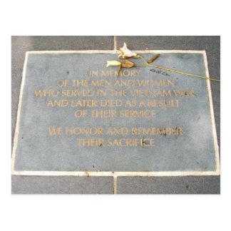 Postal En los veteranos de la placa el | Vietnam de la
