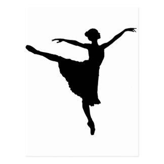 Postal En Pointe (silueta) del bailarín de ballet ~.p de