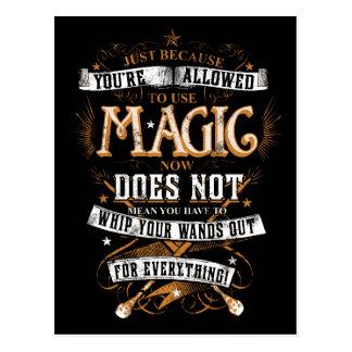 Postal Encanto el   de Harry Potter apenas porque le no