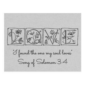 Postal Encontró una alma Loves~Scripture~Save la fecha