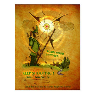 Postal encouraging de Robin Hood