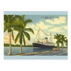 Postal encuadernada de la nave del vintage S.S. la