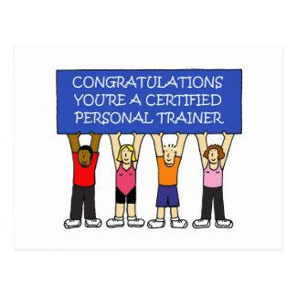 Postal Enhorabuena personal certificada del instructor
